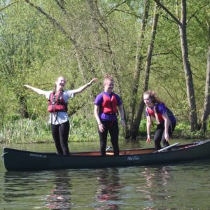 Canoeing Activities Girlguiding Nottinghamshire