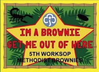 I'm a Brownie Get Me Out Of Here Badge