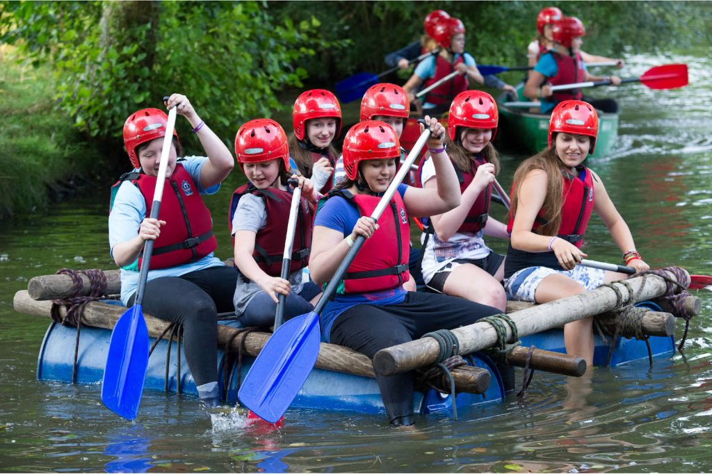 River Rafting Activities Girlguiding