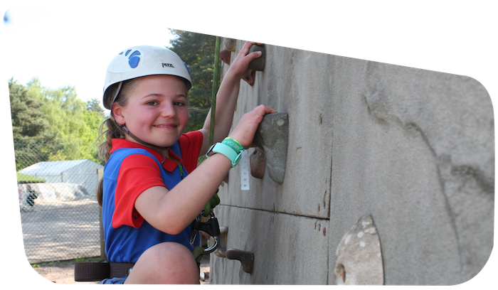 Rock Climbing Activities Camping Girlguiding Nottinghamshire